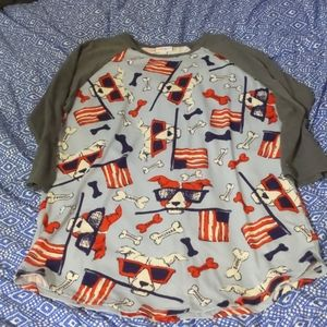 Lularoe Dog Baseball Tee